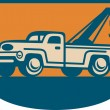 Vintage Tow Wrecker Pick-up Truck — Stock Vector #11525356