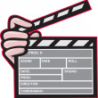 Clapboard Clapperboard Clapper Front - Stock Vector
