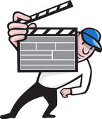 Director With Movie Clapboard Cartoon — Stock Vector