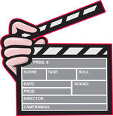 Clapboard Clapperboard Clapper Front — Stock Vector
