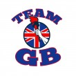 Team GB Hand Holding Torch Great Britain Flag — Stock Photo