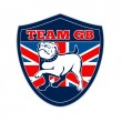 Stock Photo: Team GB English bulldog Great Britain mascot