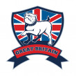 Team GB English bulldog Great Britain mascot — Stock Photo