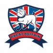 Team GB English bulldog Great Britain mascot — Stok fotoğraf