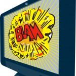 LCD Plasma TV Television Blam — Stock Vector #11982108