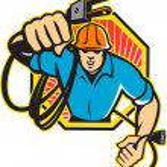 Electrician Construction Worker Retro — Stock Vector #11982122