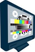 LCD Plasma TV Television Test Pattern — Stock Vector