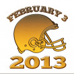 Golden american football helmet ball 2013 — Stock Photo #12076920