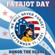 American Patriot Day Remember 911 Poster Greeting Card — Stock Photo #12077008
