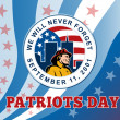 Stock Photo: American Patriot Day Remember 911 Poster Greeting Card