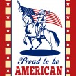 American Patriot Independence Day Poster Greeting Card — Stock Photo