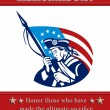 Stock Photo: AmericPatriot Memorial Day Poster Greeting Card