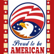 American Proud Eagle Independence Day Poster Greeting Card — Stock Photo #12077108