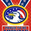 American Proud Eagle Independence Day Poster Greeting Card — Stock Photo
