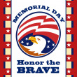 American Eagle Memorial Day Poster Greeting Card — Stock Photo #12077127