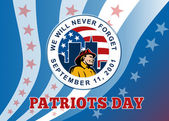 American Patriot Day Remember 911 Poster Greeting Card — Foto Stock