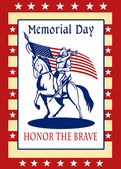 American Patriot Memorial Day Poster Greeting Card — Stock Photo