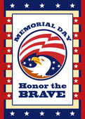 American Eagle Memorial Day Poster Greeting Card — Stock Photo