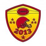American football champions 2013 shield — Stock Photo