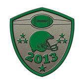 American football champions 2013 shield — Stock Photo