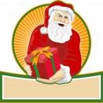 Santa Claus Father Christmas Retro — Stock Vector #12326992