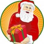 Santa Claus Father Christmas Retro — Stock Vector #12327024