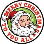 Santa Claus Father Christmas Retro — Stock Vector #12327040