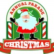 SantClaus Christmas Parade — Vector de stock #12327057