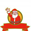 Santa Claus Father Christmas Cartoon — Stock Vector