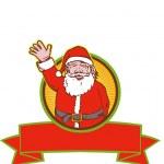 Santa Claus Father Christmas Cartoon — Stock Vector #12327105