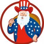 American Father Christmas Santa Claus — Stock Vector #12327148