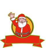 Santa claus weihnachtsmann cartoon — Stockvektor