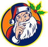 Santa Claus Father Christmas Retro — Stock Vector