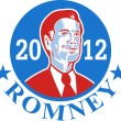 Mitt Romney For American President 2012 — Stock Vector