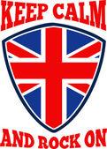 Keep Calm Rock On British Flag — Stock Vector