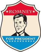 Mitt Romney For American President Shield — Stock Vector