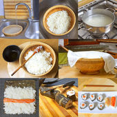 Homemade sushi — Stock Photo