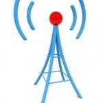 Blue antenna — Stock Photo