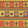 Colorful African Seamless Pattern with Geometric Shapes — Stock Vector