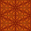 Seamlees Pattern with Brown Ornament - Stockvektor