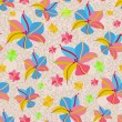 Seamless Pattern with Pink Yellow Flowers — Stockvektor #11469864