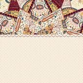 カラフルなマンダラ ビンテージ カード — ストックベクタ