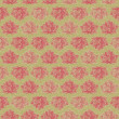Retro Dark Lotus Flower Seamless Pattern — Stock Photo