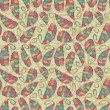 Seamless Pattern with Colorful Leaves - Stock Vector