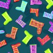Seamless Pattern with Colorful Rubber Boots — Stockvectorbeeld