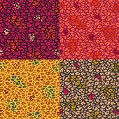 Colorful Cheetah Print Seamless Pattern Set — Stock Vector