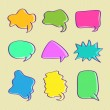 Hand Drawn Bubble Chat Set — Stock Vector