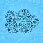 Cloud Computing Vector Blue Background — Stock Vector