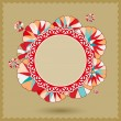 Abstract Banner with Colorful Round Ornament — Vecteur #12289422