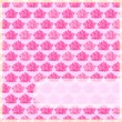Pink Flower Card with Straight Label — Imagen vectorial